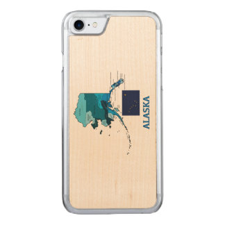 Flag and Map of Alaska Carved iPhone 8/7 Case