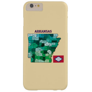 Flag and Map of Arkansas Barely There iPhone 6 Plus Case