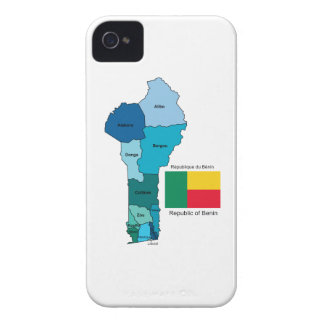 Flag and Map of Benin iPhone 4 Case-Mate Cases