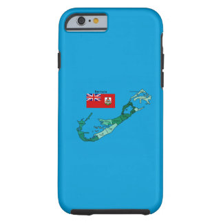 Flag and Map of Bermuda Tough iPhone 6 Case