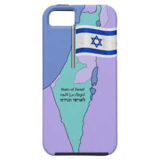 Flag and Map of Israel Tough iPhone 5 Case