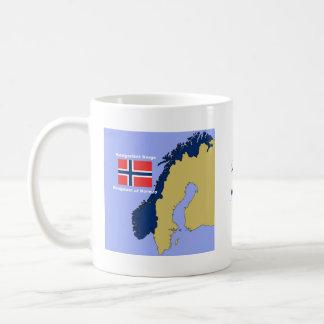 Flag and Map of Norway Coffee Mug