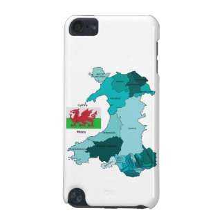 Flag and Map of Wales iPod Touch 5G Cover