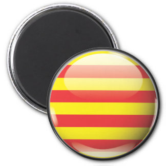 Flag and shield of Catalonia Magnet