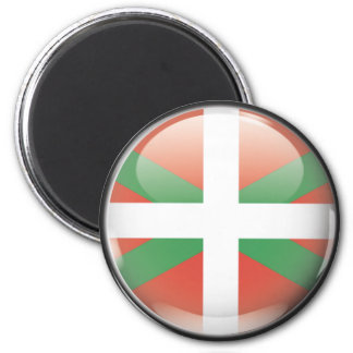 Flag and shield of Euskadi 6 Cm Round Magnet