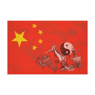 Flag and Symbols of China ID158 Canvas Print