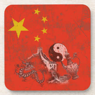 Flag and Symbols of China ID158 Coaster