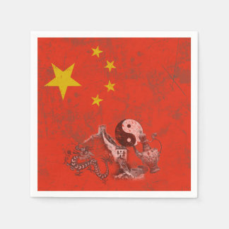 Flag and Symbols of China ID158 Disposable Napkin
