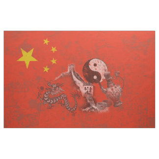 Flag and Symbols of China ID158 Fabric