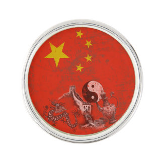 Flag and Symbols of China ID158 Lapel Pin