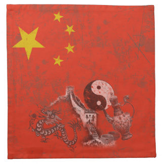 Flag and Symbols of China ID158 Napkin