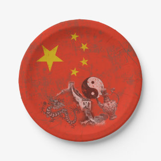 Flag and Symbols of China ID158 Paper Plate