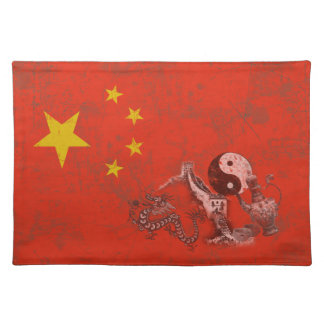 Flag and Symbols of China ID158 Placemat