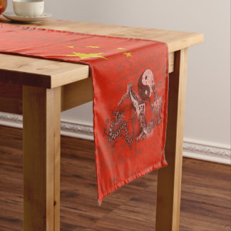 Flag and Symbols of China ID158 Short Table Runner
