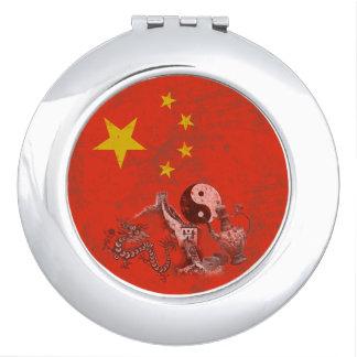 Flag and Symbols of China ID158 Vanity Mirrors
