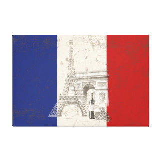 Flag and Symbols of France ID156 Canvas Print