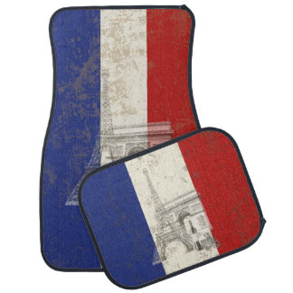 Flag and Symbols of France ID156 Car Mat