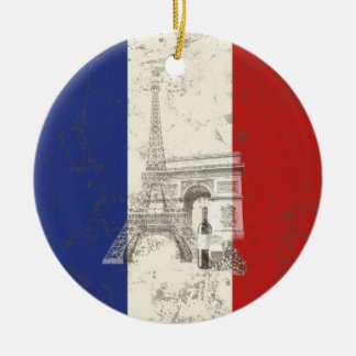 Flag and Symbols of France ID156 Ceramic Ornament