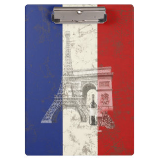 Flag and Symbols of France ID156 Clipboard