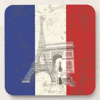 Flag and Symbols of France ID156 Coaster