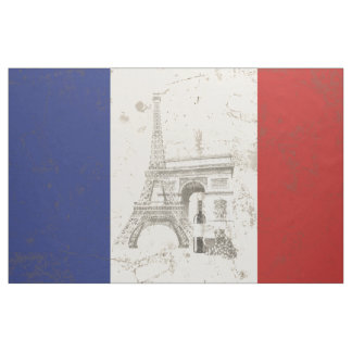 Flag and Symbols of France ID156 Fabric