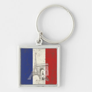 Flag and Symbols of France ID156 Key Ring