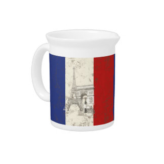 Flag and Symbols of France ID156 Pitcher