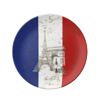 Flag and Symbols of France ID156 Plate