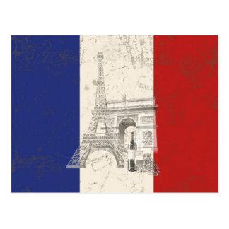 Flag and Symbols of France ID156 Postcard