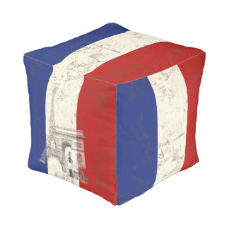 Flag and Symbols of France ID156 Pouf