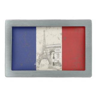 Flag and Symbols of France ID156 Rectangular Belt Buckle