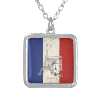 Flag and Symbols of France ID156 Silver Plated Necklace