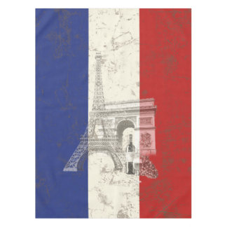 Flag and Symbols of France ID156 Tablecloth