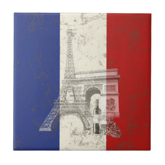 Flag and Symbols of France ID156 Tile
