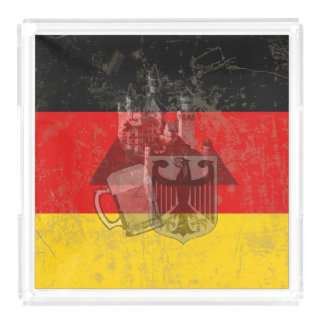 Flag and Symbols of Germany ID152 Acrylic Tray