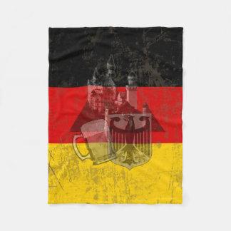 Flag and Symbols of Germany ID152 Fleece Blanket