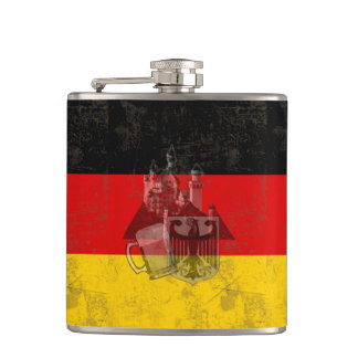 Flag and Symbols of Germany ID152 Hip Flask