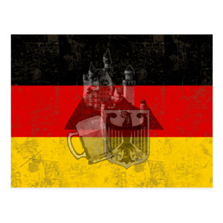 Flag and Symbols of Germany ID152 Postcard
