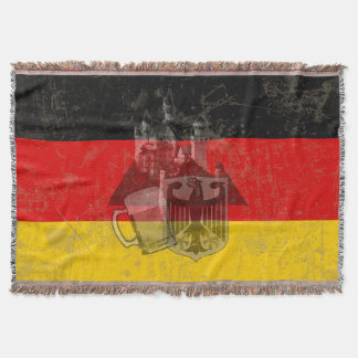 Flag and Symbols of Germany ID152 Throw Blanket