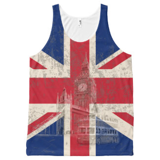 Flag and Symbols of Great Britain ID154 All-Over Print Singlet