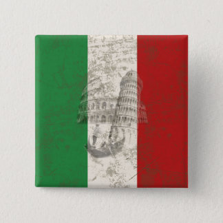 Flag and Symbols of Italy ID157 15 Cm Square Badge