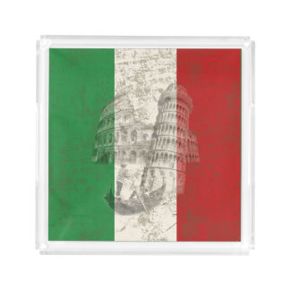 Flag and Symbols of Italy ID157 Acrylic Tray