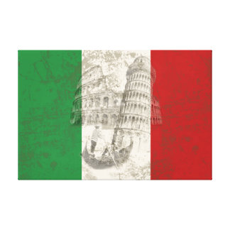 Flag and Symbols of Italy ID157 Canvas Print