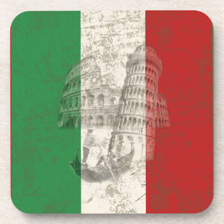 Flag and Symbols of Italy ID157 Coaster