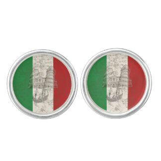 Flag and Symbols of Italy ID157 Cuff Links