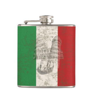 Flag and Symbols of Italy ID157 Flask