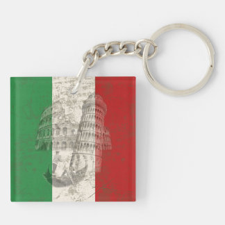 Flag and Symbols of Italy ID157 Key Ring