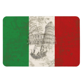 Flag and Symbols of Italy ID157 Magnet