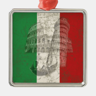 Flag and Symbols of Italy ID157 Metal Ornament