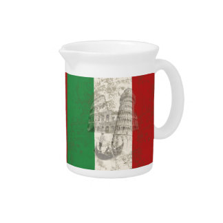 Flag and Symbols of Italy ID157 Pitcher